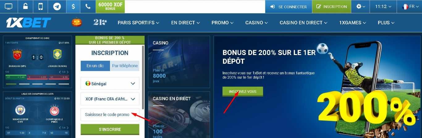1xBet promo code deposit bonus